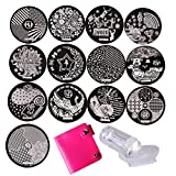 Biutee 13 Teile Neue Designs Nail Stamping Teller Edelstahl Nail Art Stempel Vorlage Manicure Nail Tools …