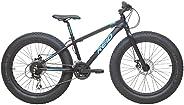 REID Boy's Titan 24 inches Fat Bike - Black, 90 x 30 x 15