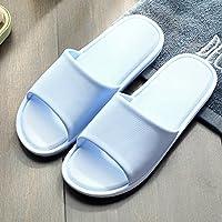 fankou Delgado y Ligero de Verano Parejas Cool Zapatillas Mujer Interiores Baño de plástico Antideslizante Shoes Home Zapatos de Baño,37-38, Azul Claro