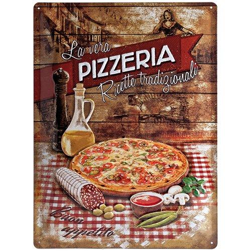 Nostalgic-Art 23159 Home & Country - Pizzeria La Vera, Blechschild 30x40 cm