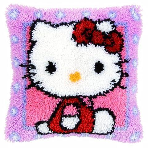 Vervaco PN-0148212 Knüpfkissen Hello Kitty