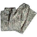 Traje impermeable Mil-Tec, color negro