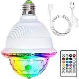 Boule Disco, Bluetooth boule à facettes avec télécommande, LED contrôlée par la musique Lumière de fête pour Halloween, Noël,