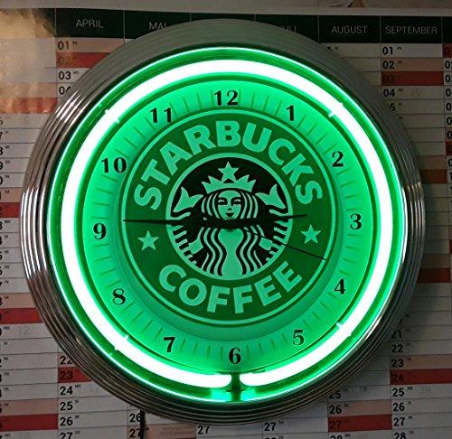neon-orologio-starbucks-coffee-luce-al-neon-verde