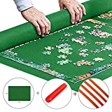 Portable Jigsaw Puzzle Roll Up Play Mat Puzzle Saver Storage Felt Mat Board