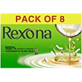 Rexona Coconut & Olive Oil Soap, 150 g (Pack of 8)