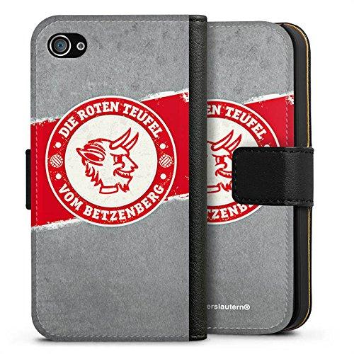 Apple iPhone 7 Hülle Premium Case Cover 1. FC Kaiserslautern Fanartikel FCK Sideflip Tasche schwarz