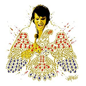 "Elvis Presley Greeting / Birthday / Any Occasion Card: ""American Eagle"" 100% Genuine Licensed Product"