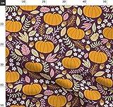 Oktober, Herbst, Kürbis, Stoffe - Individuell Bedruckt von