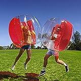 Lady of Luck Bubble Ball, Gonflable Pare-Chocs Boule pour Soccer Humaine Footballeur Jouets d'extérieur Convient aux Enfants et aux Adultes(Rouge)