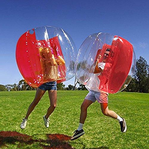 Burbuja Bola, Humanos Hinchable Bubble Parachoques PVC Transparente Portátil Al Aire Libre Activo Los Adultos los Niños Pueden Utilizar ( Roja )