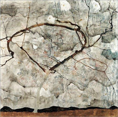 cuadro-sobre-lienzo-80-x-80-cm-autumn-tree-in-the-wind-de-egon-schiele-cuadro-terminado-cuadro-sobre