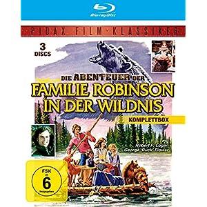Die Abenteuer der Familie Robinson in der Wildnis - Komplettbox (Die legendäre Spielfilmtrilogie in brillianter HD-Abtastung) (Pidax Film-Klassiker) [3 Blu-rays]