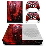 Stillshine Vinyl Skin Decal Full Body Sticker For Microsoft Xbox One S Console & 2 Controllers And Kinect 2.0 (Starry Red)