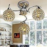 %Lampe Kristall-Kronleuchter, Decken-Kronleuchter, Wohnzimmer-Lichter Schlafzimmer-Deckenlampen Beleuchtung-Lampen Restaurant-Kristalllampe (größe : Long 40CM*wide 40CM*high 60CM)