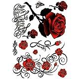 Wasserdicht Aufkleber Rose Kunst Temporäre Sticker für Körper, Arm, Beine