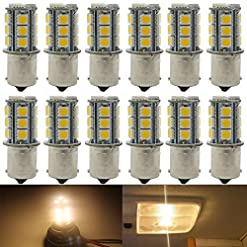 12-Pack Bianco LED 12V-DC, Sostituzione Auto Per Interni RV Camper Indicatori Di Direzione Lampade Posteriori Tail BackUp Bulbs