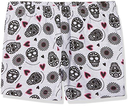 Lina Pink Mädchen Schlafanzughose EF.Mexic.Sho, Graumeliert, 10 Jahre (Shos Mädchen)