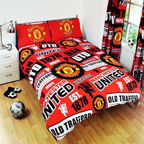 Offizielle Manchester United Bettwäsche, Fußball, Man Utd, MUFC, Einzelbett , Bedding - Patch Duvet, Doppelbett