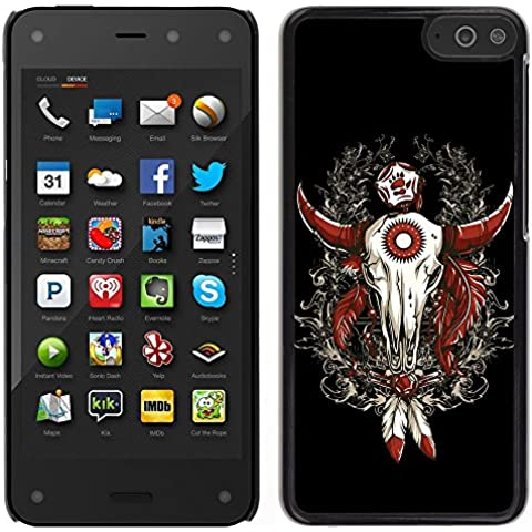 MDMG/-Cover rigida a scatto, con pellicola protettiva, con teschio, Western Buffalo Dreamcatcher-Amazon Fire Phone - Buffalo Scatti