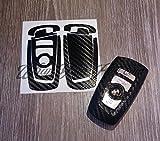 En fibre de carbone Noir pour BMW Série Sticker Overlay F211F20Clé 2F22F23F45F46Lot 3série F30F31F34F35F80F83M3Série 4F32F33F36F82série 5F10F11F 18F07série 6F12F13F06série 7F01F02F03F04