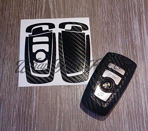 Karbonfaser Schwarz BMW Schlüssel Aufkleber Aufkleber Overlay 1F21F202F22F23F45F463Series F30F31F34F35F80M3Series 4F32F33F36F82F83Serie 5F10F11F 18F07Serie 6F12F13F06Serie 7F01F02F03F04