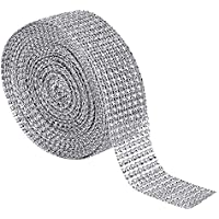 haichen 5yards Sparkle Rhinestone Crystal cinta Craft acabado de rollo de tul de malla boda partido DIY decoración Boda suministros