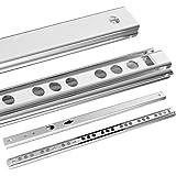 Yaheetech 6 Paar Schubladenschienen Schubladenauszug Teilauszug Kugelführung Auszug 246 x 17 mm, mit Kugellager Küche Schublade Schienen