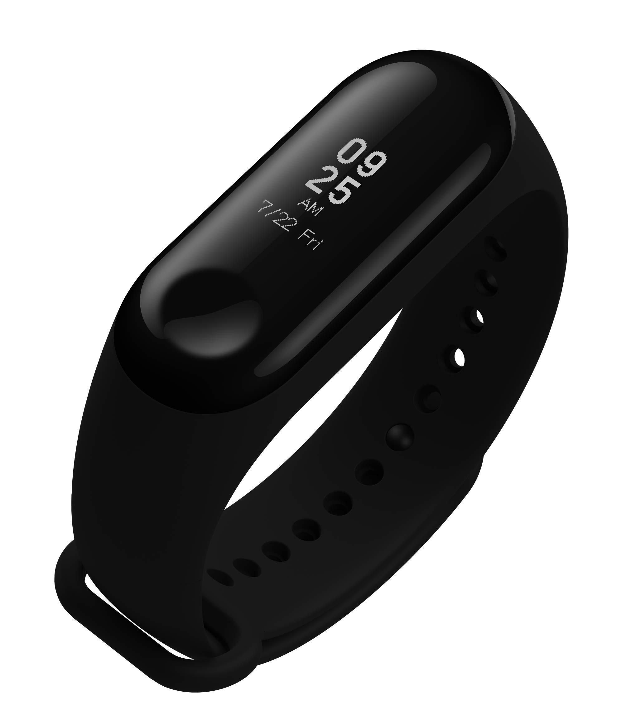 """Xiaomi Mi Band 3 – Pulsera de actividad, Pantalla 0.78"""" full OLED táctil, Notificaciones, Sumergible 50m, Mide calorías, pasos y sueño, Negro"""