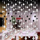 SOMESUN Vorhänge Kristall Glas Korn Vorhang Luxus Leben Zimmer Schlafzimmer Fenster Tür Hochzeitsdekor Türvorhang Kristall Girland Crystal Clear Acrylic (C)