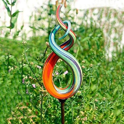 1. Gärtner Pötschke Glaskunst Stecker High Fidelity Inkl. Eisenstab