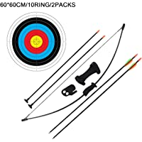 Pack of 10 with Free Shipping! ProShot Wooden Arrows for Recurve /& Youth Bows