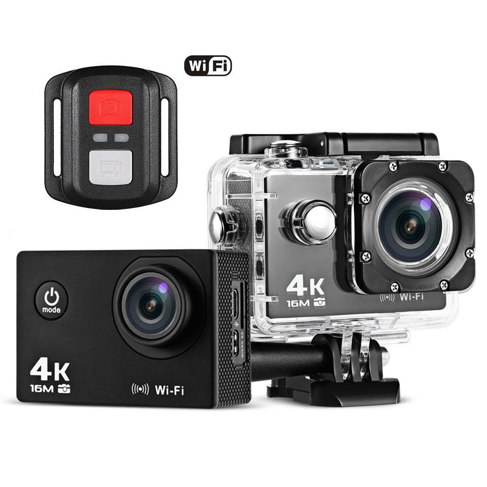 Videocamera sportiva di azione, macchina fotografica impermeabile di WiFi 1080P 4K 16MP, videocamera