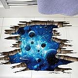 Liudaye 3D Wand mit Dunkel Blauen Galaxie Planeten PVC Herausnehmbare Dreidimensionale Dekorationsmalerei
