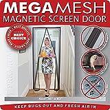Mega-malla y Velcro magnético puerta de pantalla, cm x 86,36 208,28 cm Max