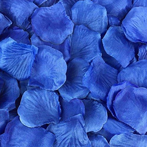 chte Hochzeit Braut dekorativen Konfetti künstliche realistische Seide weiss/blau stieg Blütenblätter ()