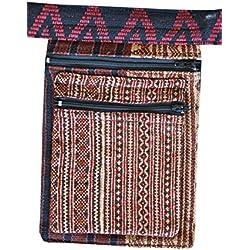 riñonera bolsa de cadera motivos étnicos multicolor