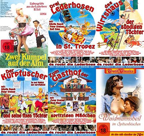 6er Sexy Classic DIRNDL & LEDERHOSEN in St Tropez + Wirtshaus der sündigen Töchter + Kurpfuscher + Zum Gasthof spritzigen Mädchen + Waidmannsheil im Spitzenhöschen + Zwei Kumpel 6 DVD Limited Edition