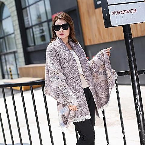 Donne caldo autunno foulard di cashmere sciarpa invernale , 6