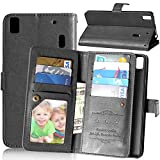 Crazy Horse 9 Card Slots Leather Wallet Tasche Hüllen