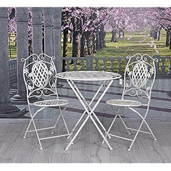 garten eisenm bel sitzgruppe tisch st hle gartenm bel vintage weiss palazzo exclusiv. Black Bedroom Furniture Sets. Home Design Ideas