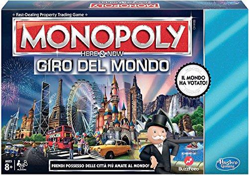 Hasbro Monopoly Giro del Mondo Gioco da Tavolo [Versione in Italiano]