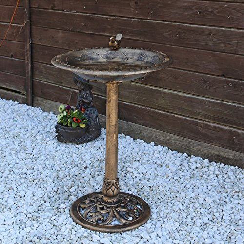 Vogeltränke VGT3 Vogelbad Vogel Tränke Bad mit Vogel auf der Wasserschale