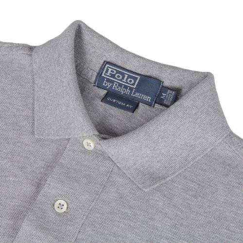 Herren Poloshirt Custom Fit Kurzarm Grau