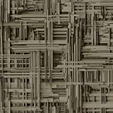 P+S International P&S - Tapete 3D Effekt gestreift gemustert geometrisch nicht gewebt metallic Strukturtapete - braun bronze 42098-40