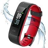 Vigorun Fitness Armband Farbdisplay Fitness Tracker IP68 Wasserdicht Aktivitätstracker mit Pulsmesser Schrittzähler mit Alarm/Kalorien/Schlafüberwachung, für Frauen, Männer und Kinder