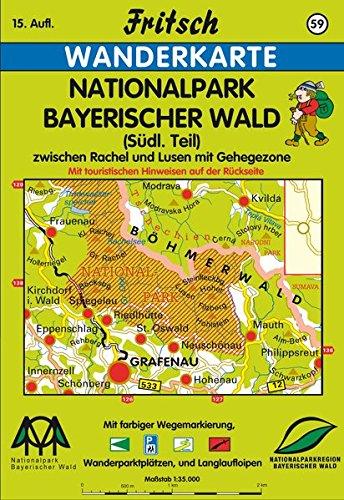 Fritsch Karten, Nr.59, Nationalpark Bayerischer Wald (Fritsch Wanderkarten 1:35000)