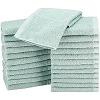 AmazonBasics - Asciugamani in cotone, confezione da 24, Verde Acqua