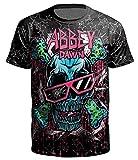 Ocean Plus Herren Casual Aufdruck Tee Shirt Motiv Tierdruck Galaxis Halloween Schädel Top Streetwear (L (Tag XL), Sonnenbrille Schädel)