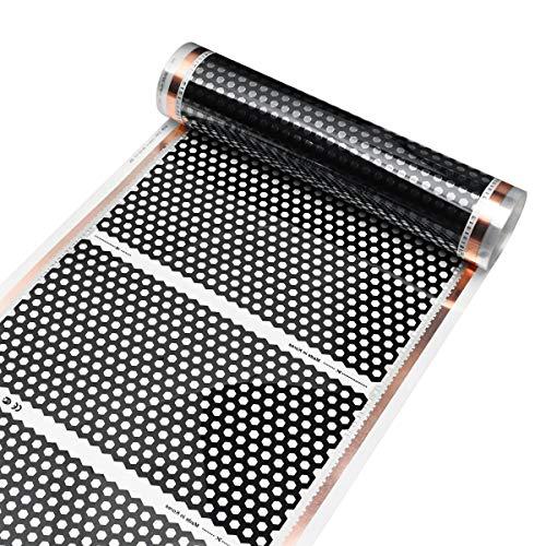 MJJEsports 50Cm 4M Piso Calefacción Película Infrarrojo Suelo De La Película Pads Honeycomb Reticulado 220V